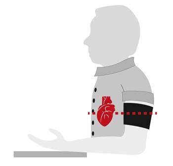 Blutdruckmessung am Oberarm