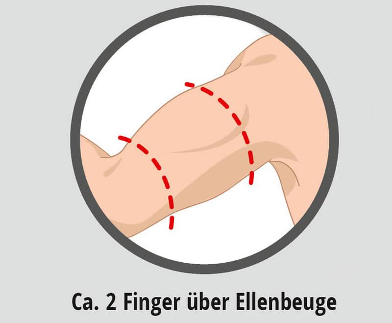 Blutdruckmanschette richtig anlegen
