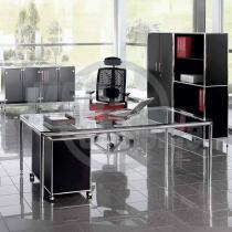 modul space Systemmöbel: Schreibtisch mit Glasplatte groß (180 x 80 cm)
