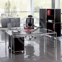 Modul Space Glas-Schreibtisch, Bosse