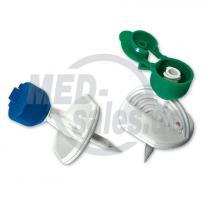B.BRAUN Mini-Spike® Entnahme- und Zuspritzspike mit Belüftungsfilter 0,45 µm und Standardspitze, grün