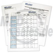 MELAdoc® Dokumentationsbögen Sterilisationszubehör