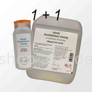 Paket 1: Händedesinfektion-Lösung Ethanol 70% (V/V)