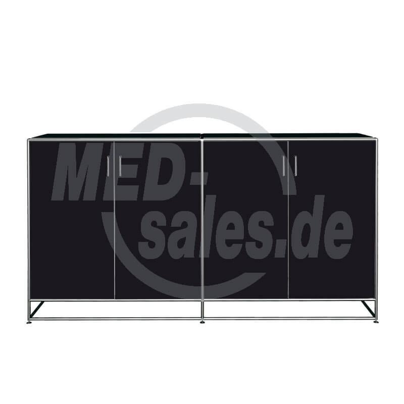 Modul space sideboard 2oh niedrig mit t renpaar 90 8 x for Sideboard niedrig